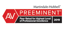 Martindale-Hubbell Preeminent Lawyer Badge 2019