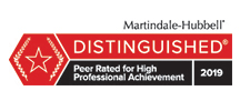 Martindale-Hubbell Distinguished Lawyer Badge 2019