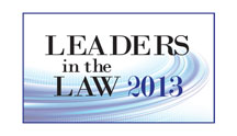 Leaders in the Law 2013 Badge