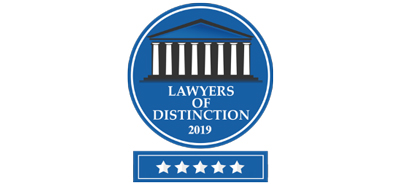 Lawyers of Distinction 2019 Badge